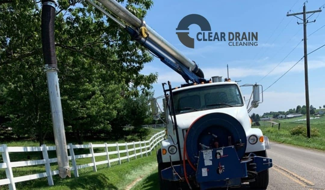 Clear Drain Cleaning Hydro Excavation Truck
